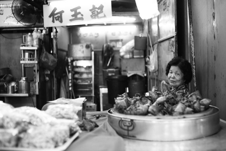 Food Parlor Chinatown Kuala Lumpur Street Photography Voigtländer Nokton 35mm F1.2 Sonyalpha A7sii Petaling Street Zongzi EyeEmNewHere The Street Photographer - 2017 EyeEm Awards Bw