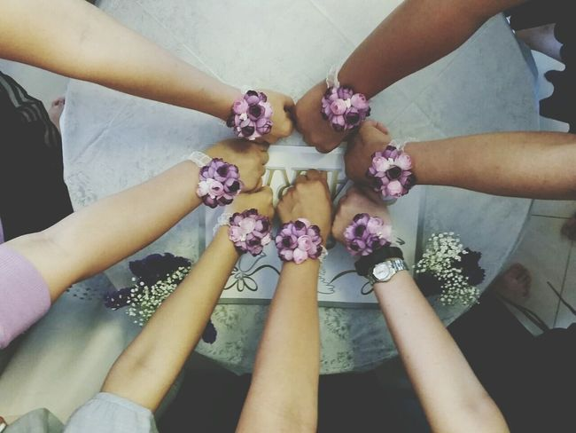 Wedding Purple Flower Jiemei Just Married Girls Happy Babybreath Forget Me Nots Ring Of Flowers Purple Flower Corsage