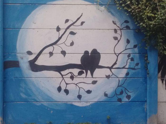 wall art beautiful Wall Wall Art Walls Wallpainting Wall Painting Painted Image Ink Watercolor Painting Blue Paint