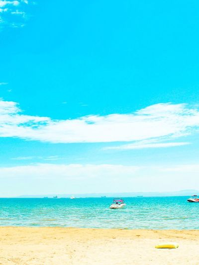Sea Water Beach Sky Land Scenics - Nature Horizon Over Water Nature Blue Beauty In Nature Travel