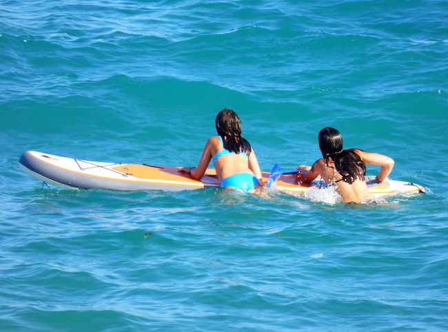 Beach Photography Blue Day Enjoyment Leisure Activity Lifestyles Nature Paddlesurf Relaxation Rippled Sea Summer Turquoise Colored Vacations Water