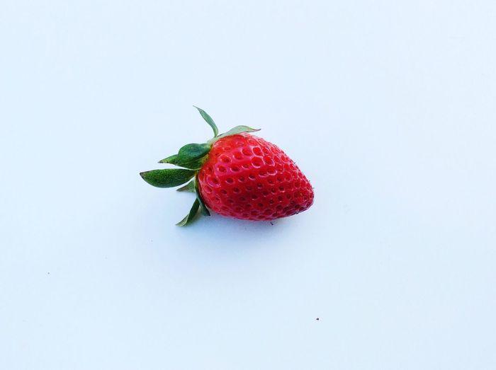 Organic Isolated White Background Freshness Fresh Strawberry Red Strawberries
