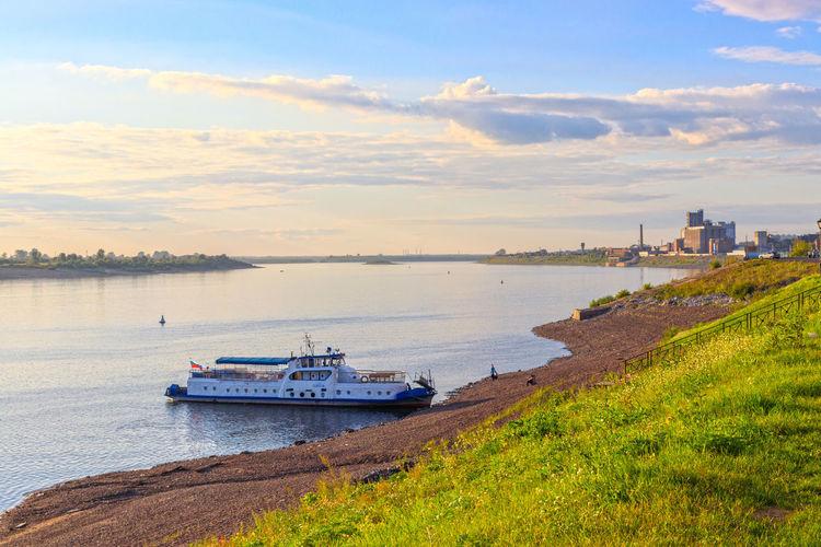 River View Riverside Mode Of Transportation Outdoors Passenger Craft River Riverbank Riverscape Siberia Travel Travel Destinations Vessel Water Waterfront