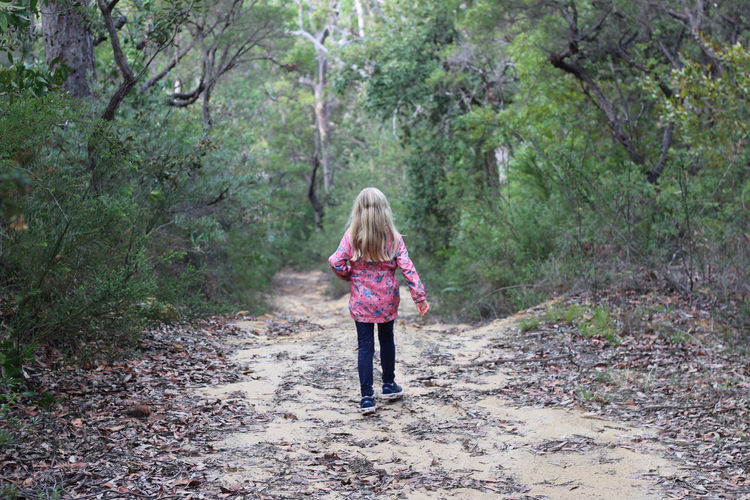 Harriet - Kulnura, Mangrove Mountain Hiking Blond Hair Casual Clothing Child Childhood Day Forest Full Length Girls Hair Hairstyle Innocence Land Long Hair Mountain Nature Offspring One Person Outdoors Plant Rear View Tree Walking Women WoodLand