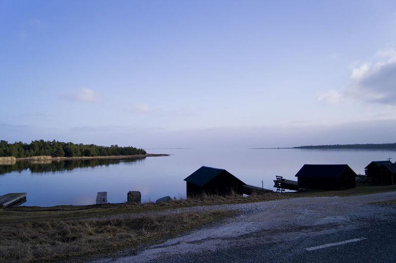 Bridge Fishing Village Gotland House No People Quietly Reflection Sweden Tranquil Scene