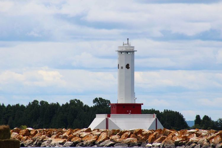 Guidance Safety Lighthouse Protection Direction Sky Tower Tranquil Scene Nature Cloud Cloud - Sky Scenics Pebble Stone Outdoors Day Tranquility Mountain Tall - High Rural Scene Neighborhood Map