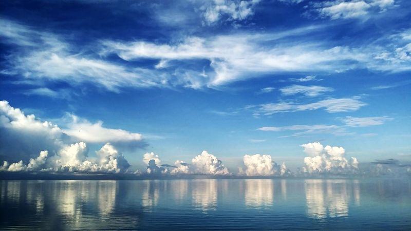 Reflection Blue Cloud - Sky Lake Water Outdoors Nature Sky No People Landscape Beauty In Nature Scenics Day Beauty Mountain Backgrounds Sky Background Blue Sky And Clouds Peaceful Sky Just Photography Wonderful Morning SelayarIsland