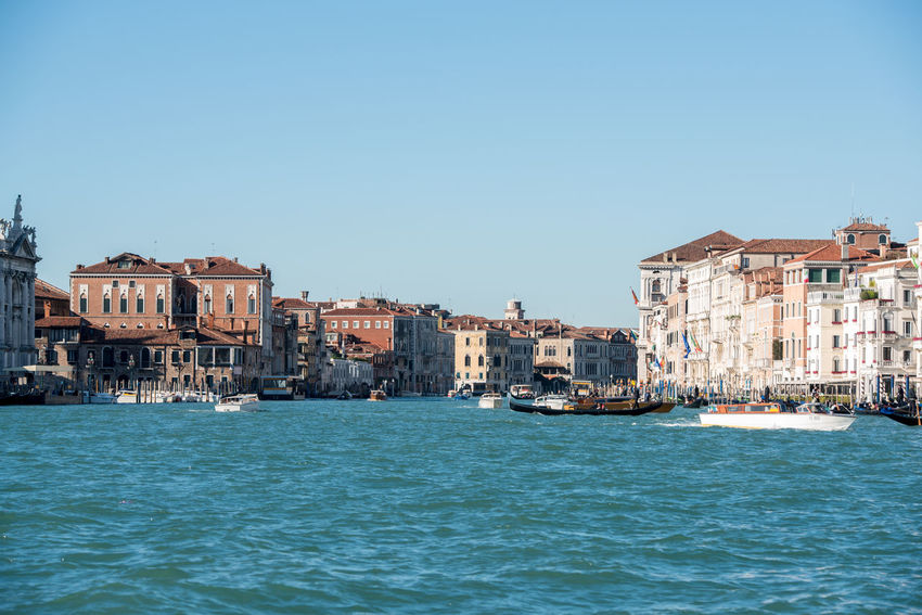 Venice, Italy Architecture Building Exterior Built Structure Canal City Clear Sky Day Gondola - Traditional Boat Nautical Vessel No People Outdoors Venice Water Waterfront
