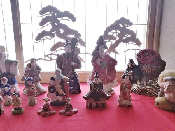 うどがわらのひなびな SAKATA 酒田 鵜戸川原人形 Udogawara Doll Japan Photography Japanese Traditional Japanese Culture Japanese Traditional Hinamatsuri Close-up Figurine  Toy Animal Soldier Toy Doll Sculpture