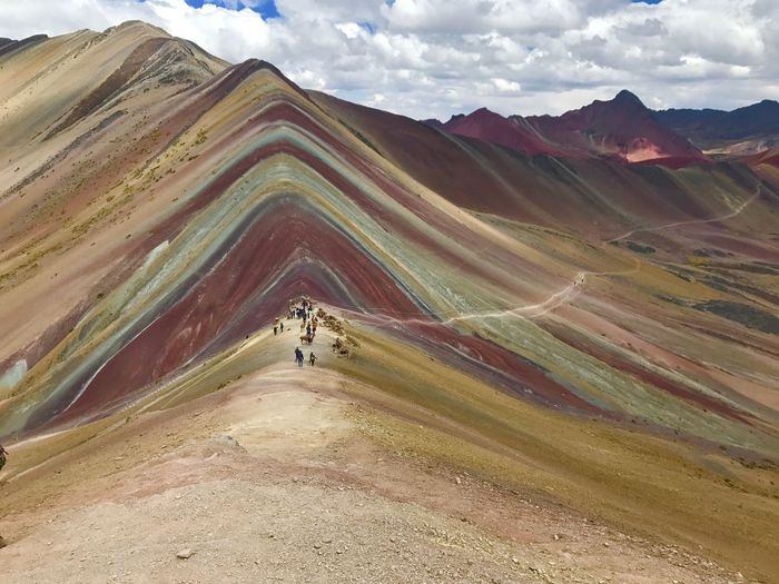 Rainbow Mountain, Peru Mountain Summit View Beautiful Challenge Hiking Trekking Trek Cusco Peru Rainbow Mountain Colorful