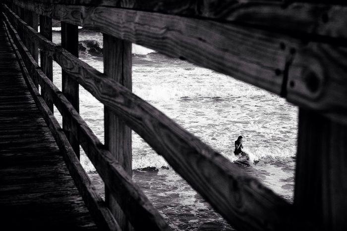 Emerald Isle,NC Shades Of Grey Eye4photography  EyeEm Best Shots Eye4black&white  Fujifilm Beach Monochrome Pier
