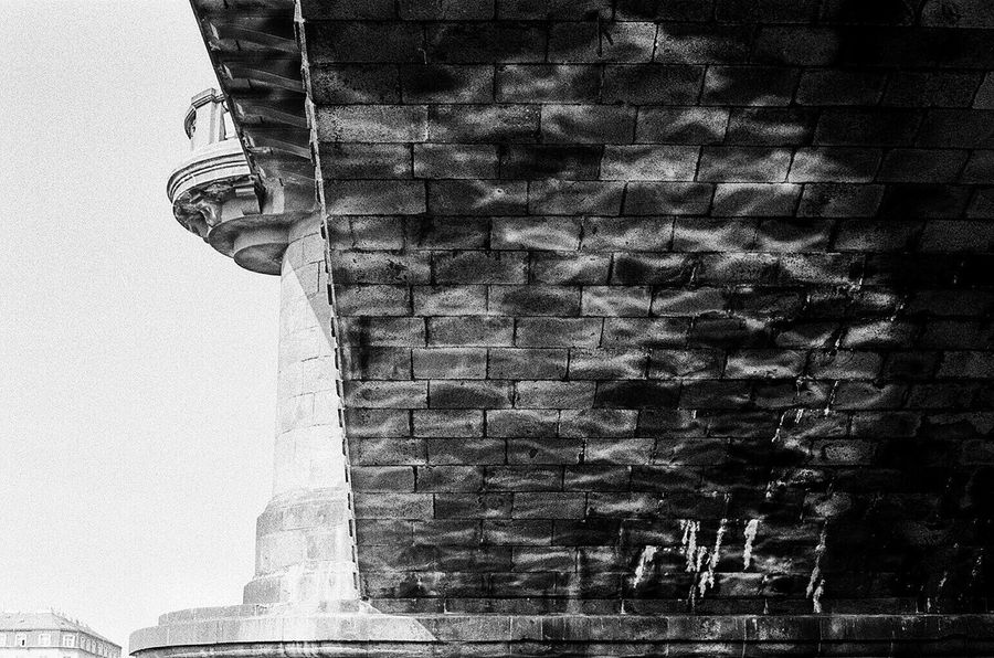 Welcome To Black Vibes Architecture Bridge Prague Low Angle View Outdoors No People Built Structure CarlZeiss Light Film Photography Vscocam Leica Leicam6 35mm Arch Film Snapseed Reflection City City Vibes Kodak Blackandwhite Long Goodbye Resist The Secret Spaces EyeEmNewHere EyeEm Diversity
