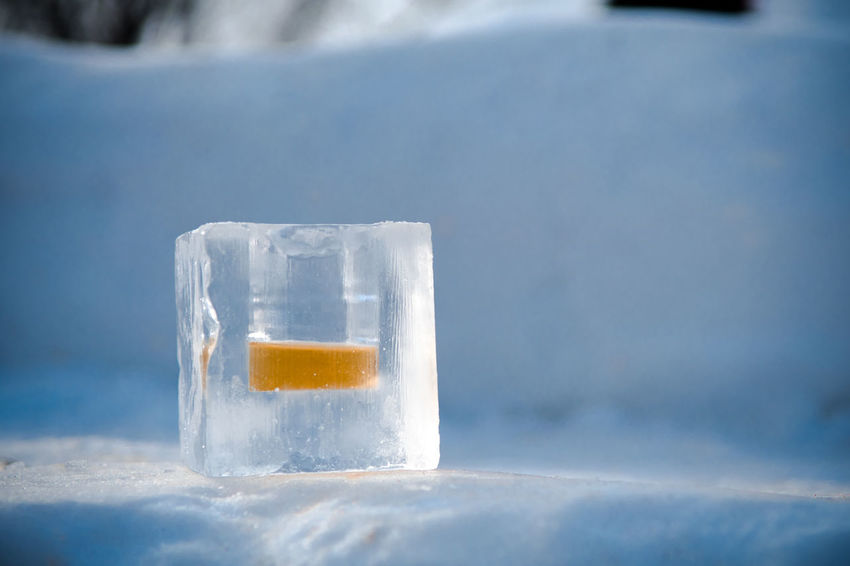 Enjoying whiskey in ice cube cup Ice Cup Ice Cube Winter Alcoholic Drink Cheers Close-up Cold Temperature Day Drink Freshness Frozen Ice Ice Shots Nature No People Outdoors Purity Refreshment Water Whiskey