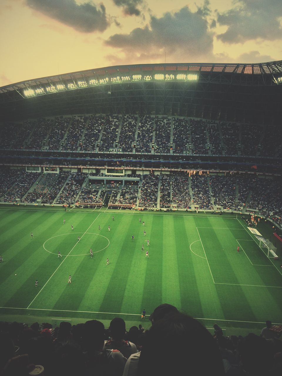 stadium, sport, crowd, spectator, soccer, audience, large group of people, grass, fan - enthusiast, football, cheering, sports team, event, outdoors, togetherness, playing, team sport, excitement, sports venue, competition, competitive sport, sky, soccer field, real people, night, american football - sport, applauding, people