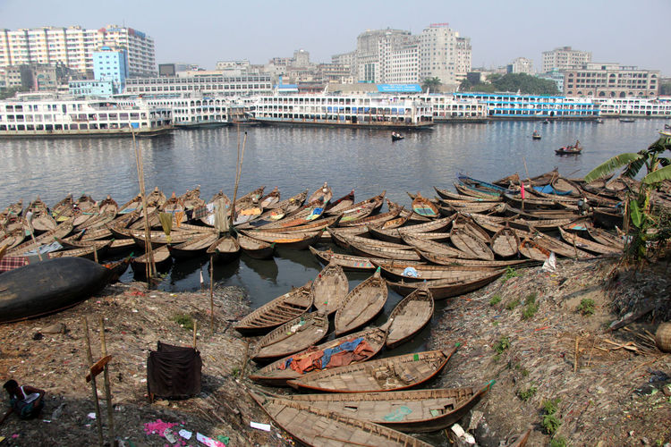 Water Nautical Vessel Transportation Architecture Mode Of Transportation Nature City Outdoors Urban Landscape River Day No People Moored Building High Angle View Wood - Material Boat