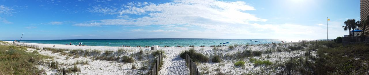 Panama City Beach Panorama Panoramic Beach Panorama Walkway Beachphotography Sand Shore Beach PCB Ocean Summertime Trail Evening Sea And Sky Emeraldcoast Feel The Journey Gulf Of Mexico Summer Florida Coastline Shootermag Saltwater Fine Art PhotographyNature
