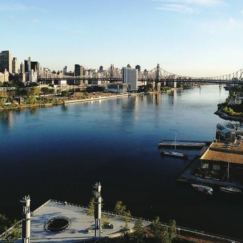Queensboro bridge over east river in city