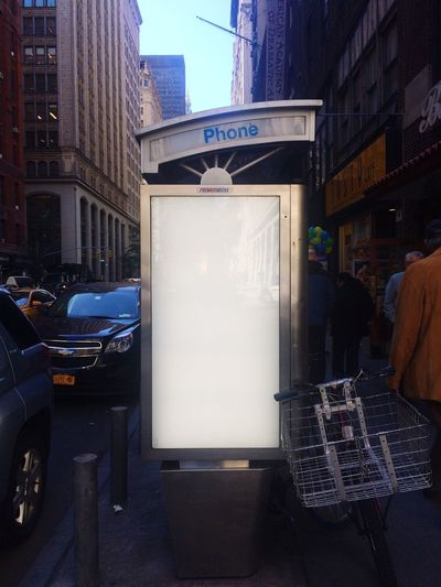 NYC Phone Booth Advertising Space Poster Lightbox New York City NYC Street Advertisement Posters Blank Space Template