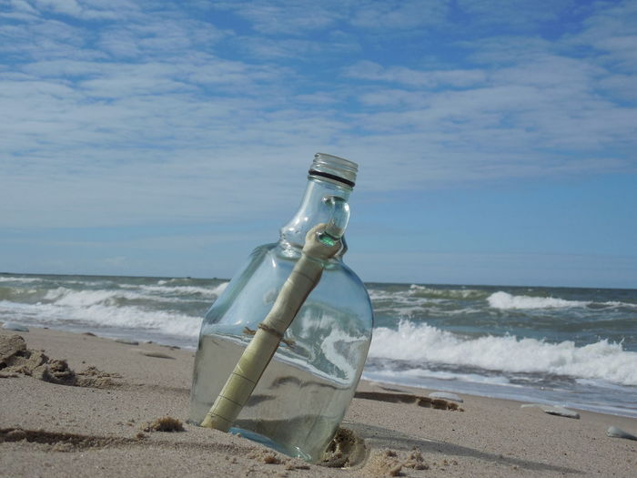 Landscape_Collection Beach Day Horizon Over Water Landscape Landscape_photography Message In A Bottle Message In The Sand Nature No People Outdoors Sand Sea Sky Water Wave Liepaja