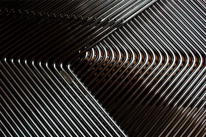 Full Frame Shot Of Patterned Shiny Metal