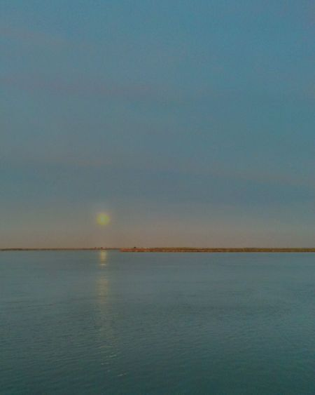 Moon, Ribatejo, Portugal Beauty In Nature Scenics Nature Tranquil Scene Water Sky Outdoors Horizon Over Water Moon Tejo Tejo River Portugal Portugal_em_fotos Landscape Place Of Heart Nightfall Eyeemlandscape