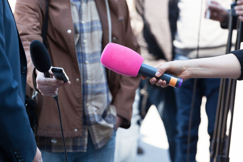 News conference. Media interview. Journalist Press Answer Broadcasting Comment Communication Correspondent Holding Human Hand Information Interviewing Journalism Media Media Event Media Interview Microphone News News Conference People Public Question Report Reporter