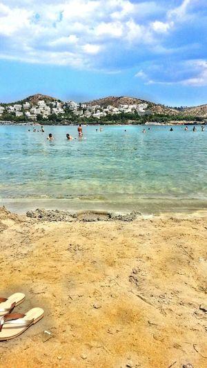 Summer in Greece. .. Relaxing Beach