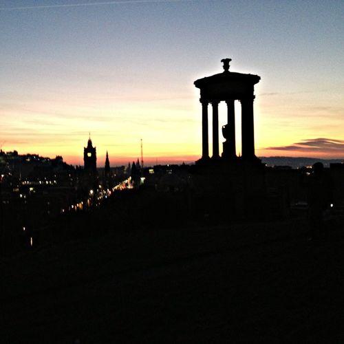 Carlton Hill Cityscapes Sundown Edinburgh Scotland