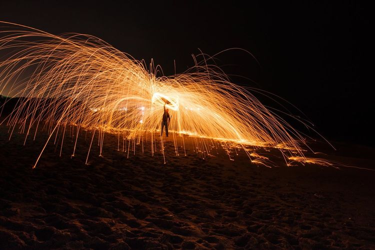 Steel Wool Light Painting Light Painting Photography. Beach Beirut EyeEm Gallery Lebanon Burning Fire Night Enjoying Life Taking Photos Check This Out Black Background