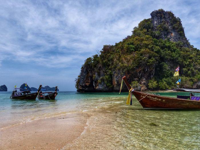 Boats Seaside EyeEm Best Shots Krabi Thailand Nice Atmosphere Seascape EyeEm Nature Lover Ko Hong Popular Photos Water_collection Beautiful Beach