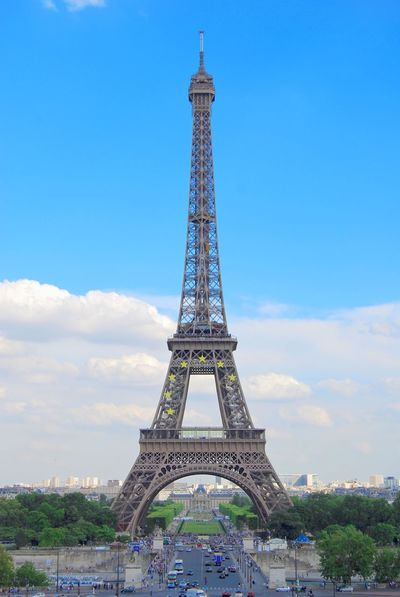 Eiffel Tower by Nikon D80. Very old camera. Eiffel Tower Paris Travel Architectural Feature Architecture Blue Built Structure City Cloud - Sky Day Europe History Low Angle View Metal Monument No People Outdoors Site Sky Tall Tall - High Tourism Tower Travel Travel Destinations Tree