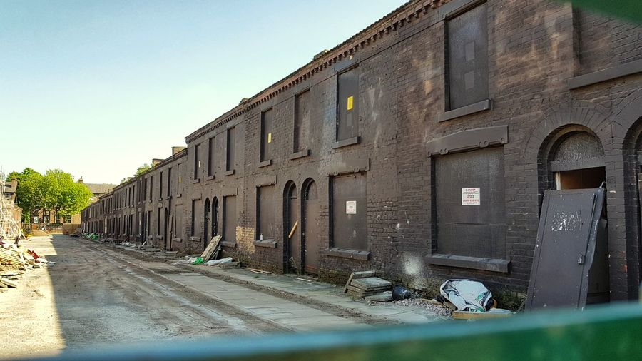 Filmset Terraced Houses Peakyblinders Liverpool Housing Sky Architecture Building Exterior