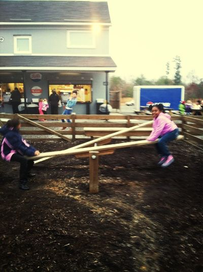 My Baby On The Seesaw :)