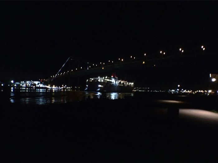 Harbour Bridge Ferry Water Reflections Gothenburg Swedenwestcoast Rödasten Swayoutwest Night Lights