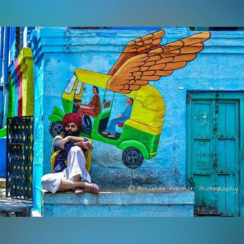 Auto - wings Jodhpur Jodhpurs Bluecity Photowalk Brampuri Photographie  Monsoon Concept Jodhpuri Randomness Graffiti Igersjodhpur Instajaipur Gioneeshutterbugs Instaudaipur Jodhpur_shotout Instam Face Beard Turban Safa Rajasthan Like4like Rajasthan Indian india streetphotography