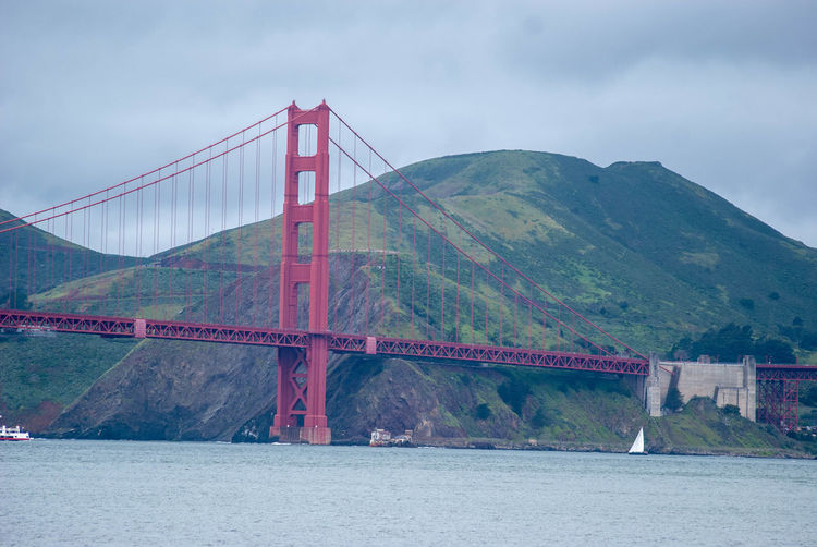 Bridge Built Structure Bridge - Man Made Structure Connection Architecture Sky Suspension Bridge Mountain Water Engineering Bay Transportation Nature Travel Destinations Tourism Day Bay Of Water Travel Mountain Range Outdoors Golden Gate Bridge