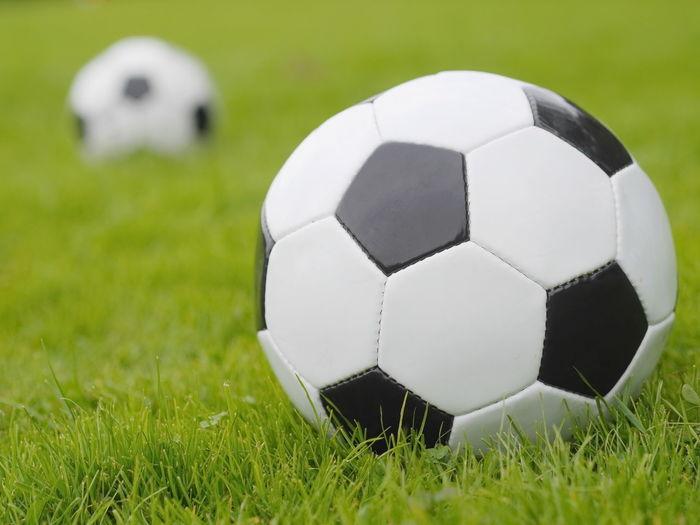 Soccer Ball On Grassy Field