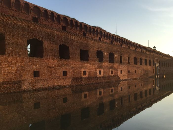 Fort jefferson by sea at dry tortugas national park