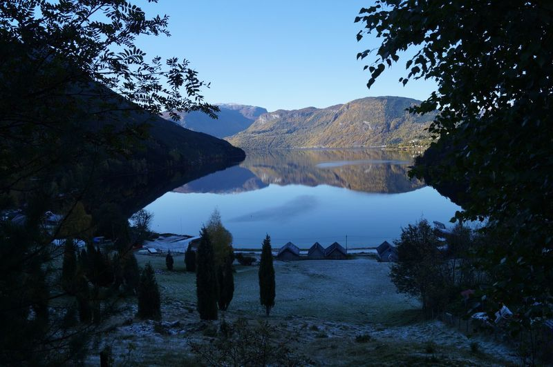 The view from my friends cabin Fjordsofnorway Norway🇳🇴 Beauty In Nature Fjord Mountain Nature Sogndal Water