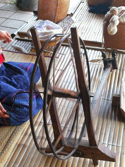 Weaving cotton Cotton Weaving Cotton Handmade Craft Thai Craft Craft Photography Human Body Part One Person Day Indoors  Human Hand Close-up Real People