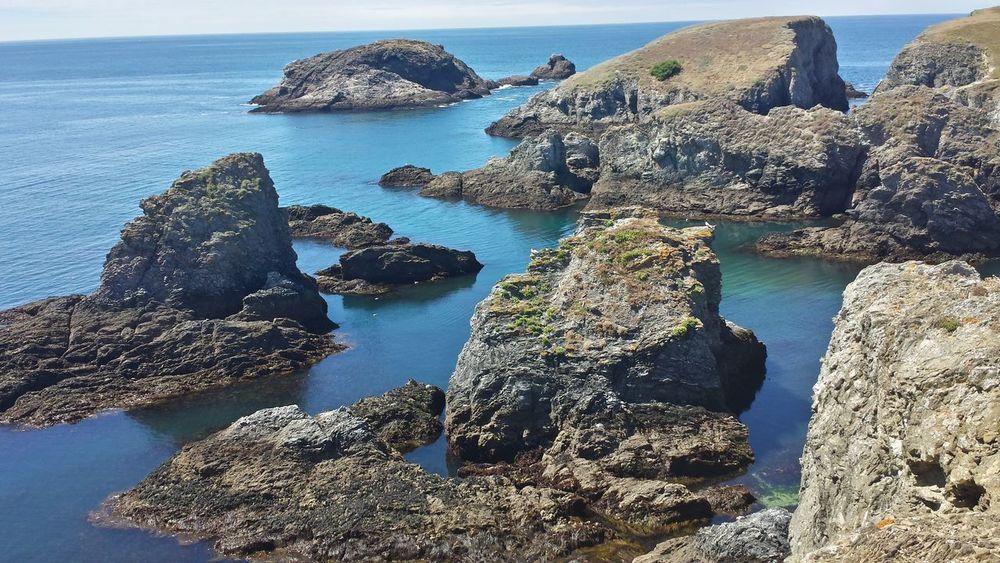 Côté Sauvage Belle-Île-en-Mer Water Sea Rock - Object Horizon Over Water