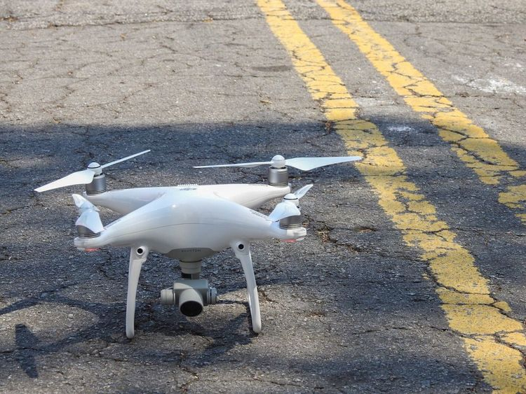 Drone  Djiphantom4 Djiphantom4drone Phantom 4 Road Marking Road Street High Angle View