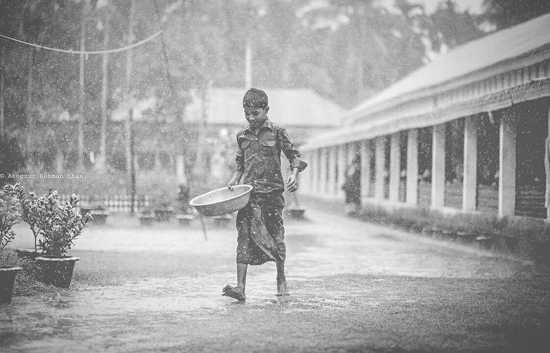 Here Belongs To Me Bangladesh Chittagong Home Monsoon Rain Boy Village Rural Scene Azeezkhanphotography