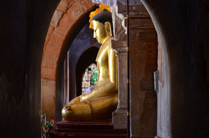 View of buddha statue in temple