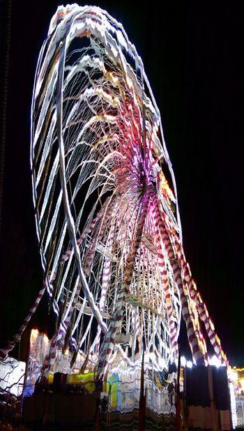 Slitscan Ferris Wheel Funderland Dublin Ireland