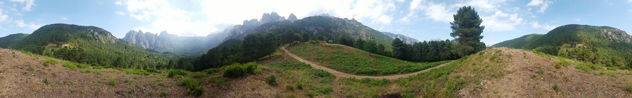 Corsica ❤️ Corsica View Nature_collection Mountains And Sky Nice Views Landscape Panoramic Photography Non-urban Scene Outdoors Travel Destinations Rock Formation Beauty In Nature Mountain Range Geology Green Color Scenics Sunlight