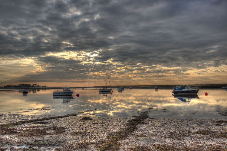 Boats HDR Hdr_Collection Hdrphotography Norfolk Uk Sunrise Sunrise_sunsets_aroundworld Wells-next-the-Sea Landscapes With WhiteWall The KIOMI Collection The Great Outdoors With Adobe The Great Outdoors - 2016 EyeEm Awards 43 Golden Moments Fine Art Photography Colour Of Life