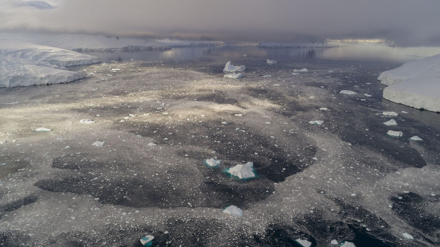 Sea ice mixed with glacier ice and icebergs, off the coast of Brabant Island, Palmer Archipelago, Antarctic. Antarctic Antarctica Drone  Global Warming Melting Aerial View Antarctica Bound Beauty In Nature Climate Change Cold Temperature Day Drone Photography Frozen Glacier Ice Iceberg Landscape Nature No People Outdoors Scenics Sea Ice Snow Water Winter The Great Outdoors - 2018 EyeEm Awards