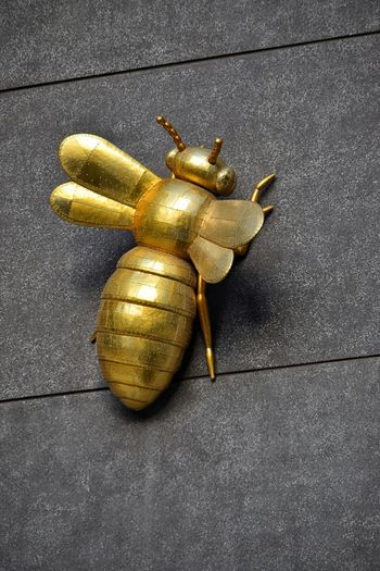 Bee Sculpture Bees Bee Yellow Vibrant Color Wall On A Wall Building Exterior Outdoors Melbourne Australia Gold Bee Large Sculpture Tower City Life Office Building Day No People Gold Gold Colored Geometric Shape Sculpture Golden Building Story Famous Place