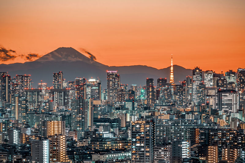 Tokyo Cityscape with Mt. Fuji Night View Nightphotography Night Lights Nightview City Cityscape Nightphotography Twilight Dusk Night Nightscape Urban 夜景 東京 東京タワー EyeEmNewHere HUAWEI Photo Award: After Dark